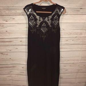 Express Aztec sequin dress